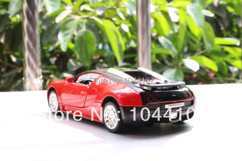 New Red 1:36 Bugatti Veyron Model Car Toys Pattern Diecast Sound & light C017(China (Mainland))