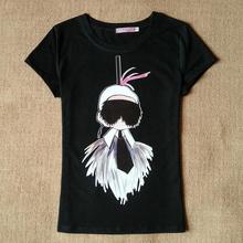 New 2015 Fashion high quality Lafayette print pattern t-shirt Tee top ropa mujer vetement femme xs s m l xl(China (Mainland))