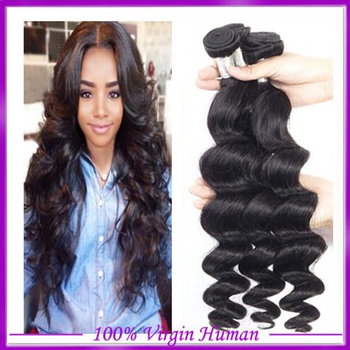 Здесь можно купить  virgin hair loose wave 3pcs/lot, natural color,100% unprocessed brazilian virgin hair,Cheap Brazilian loose wave  Волосы и аксессуары