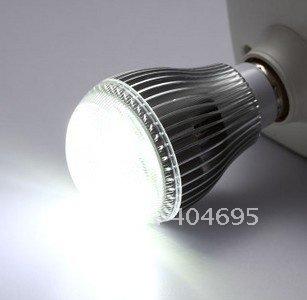 50pcs E27 7W high power LED energy-saving lamp / 7*1w LED bulbs light pearl point pc case