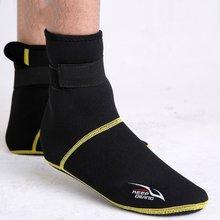 1 çift Kış Yüzme kat çorap Neopren Plaj Botları Wetsuit Ayakkabı dalış çorapları(China)