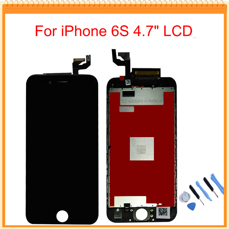For iPhone 6S LCD Display With 3D Touch Screen Digitizer Assembly Black/White Colors +Tools Free Shipping(China (Mainland))