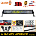 Newest 200W 5D 22 High Quality ForOsram LED Work Light Bar Off Road Driving Lamp Boat