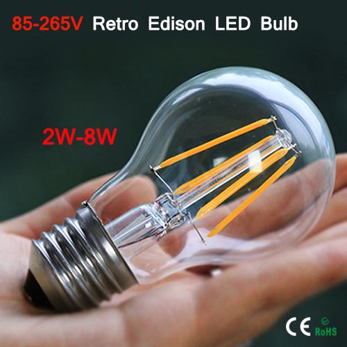 1PCS E27 / E26 110V 220V LED lamp beads 2W 4W 6W 8W Vintage Edison light bulb for pendant / table / ceiling lamp Interior decor(China (Mainland))