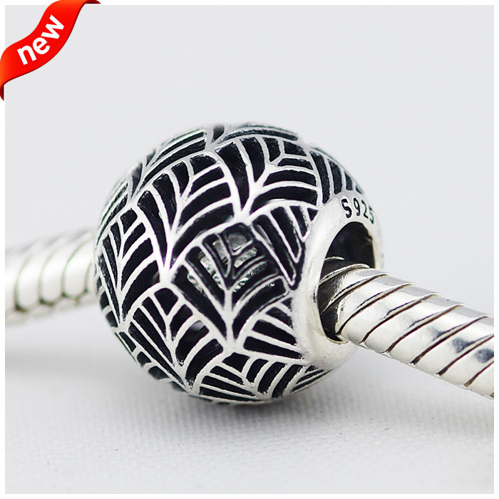 Fits Pandora Jewelry Bracelets New 100% 925 Sterling Silver Beads Abstract Charms Vacuum European Fashion DIY Original Wholesale(China (Mainland))