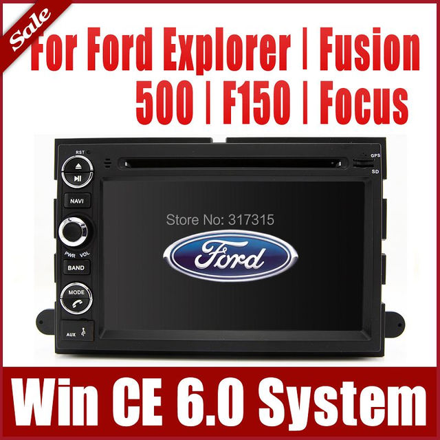 Car DVD Player for Ford Fusion 500 F150 Focus Escape Escape Mustang Freestyle w/ GPS Navigation Radio BT TV USB SD AUX Audio