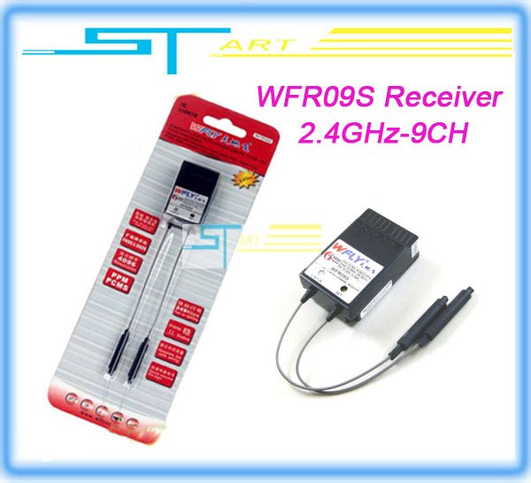 WFLY WFR09S 2.4GHz 9 channel dual MCU, dual antenna receiver + Free Shipping<br><br>Aliexpress
