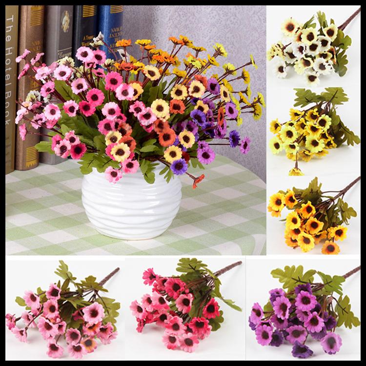 Fashion Artificial Chrysanthemum Home Wedding Decor Flower Bunch Home Decorating Drop Shipping HG-0980(China (Mainland))