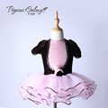 New children girls puff sleeve Tutu ballet dance dress practice Princess stage outfits 1488