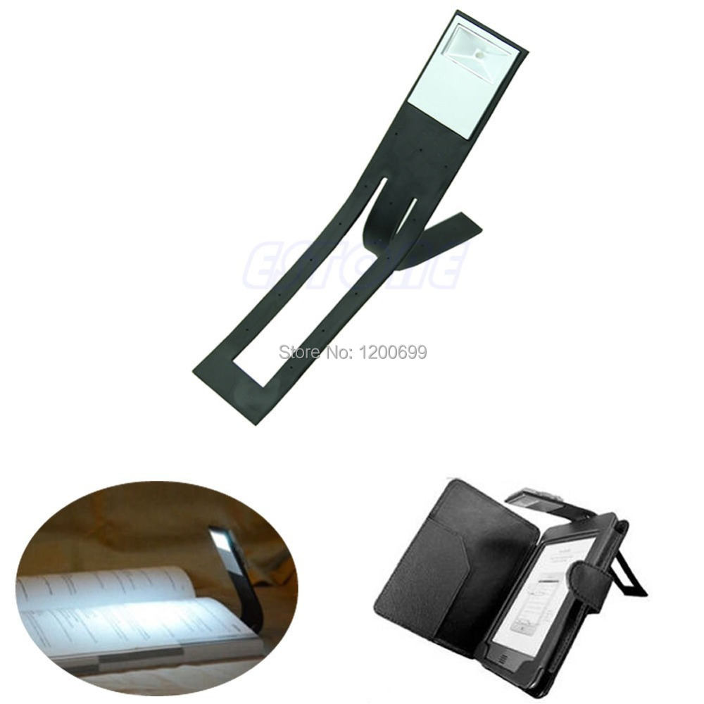F98 hot-selling New Black Flexible Folding LED Clip On Reading Book Light Lamp For Reader Kindle free shipping(China (Mainland))