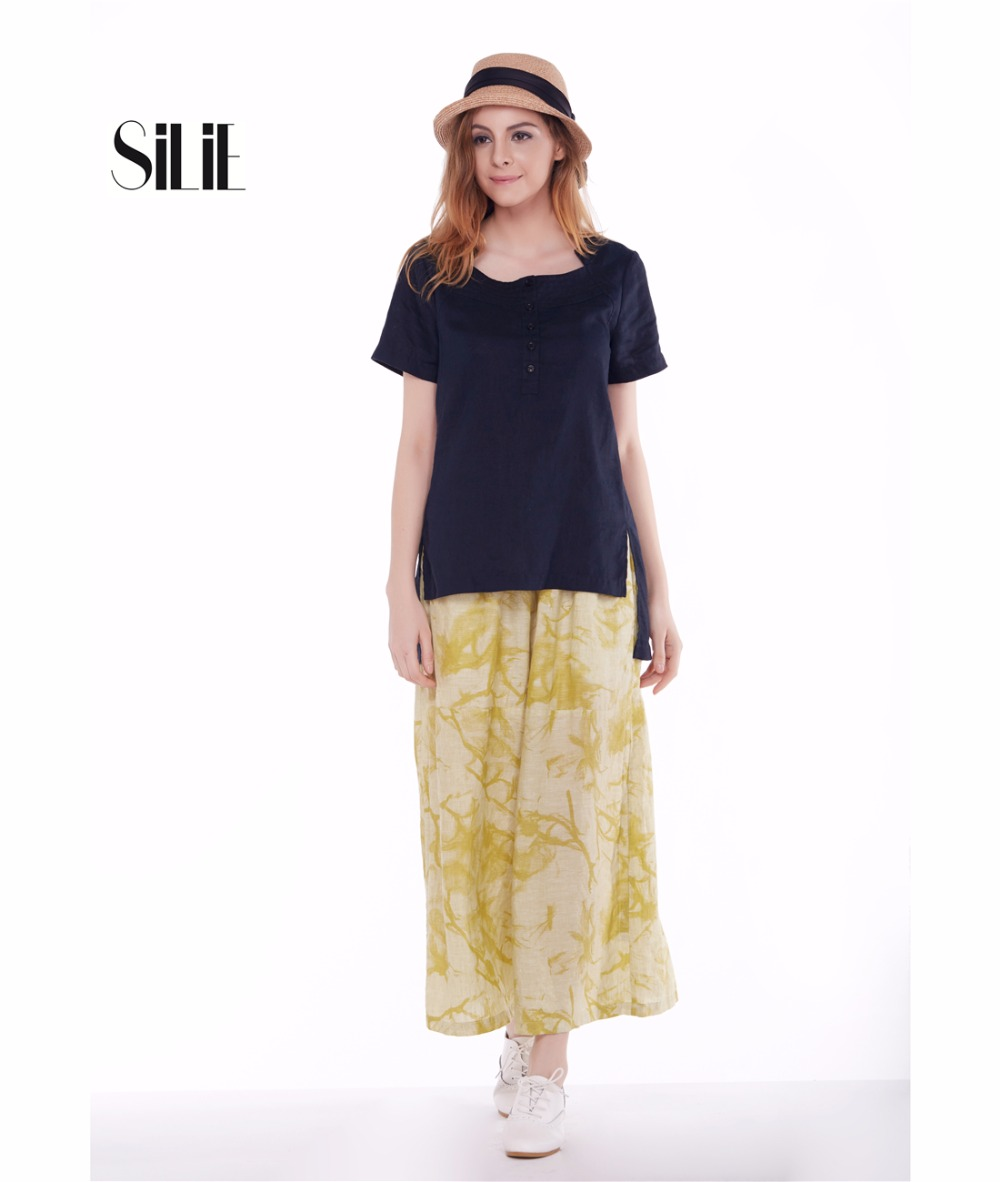 Yellow Linen Pants For Women