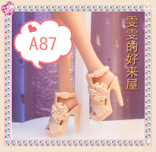 90 totally different types for select Colourful Assorted Informal Excessive heel footwear for Barbie 1:6 Doll Trend Cute Latest B