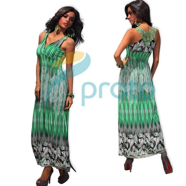 M XXL Big Size 4 Colors Freeshipping 2013 New Fashion Women Summer Bohemian Maxi Long Beach Dress Summer Casual Print Dress 4188