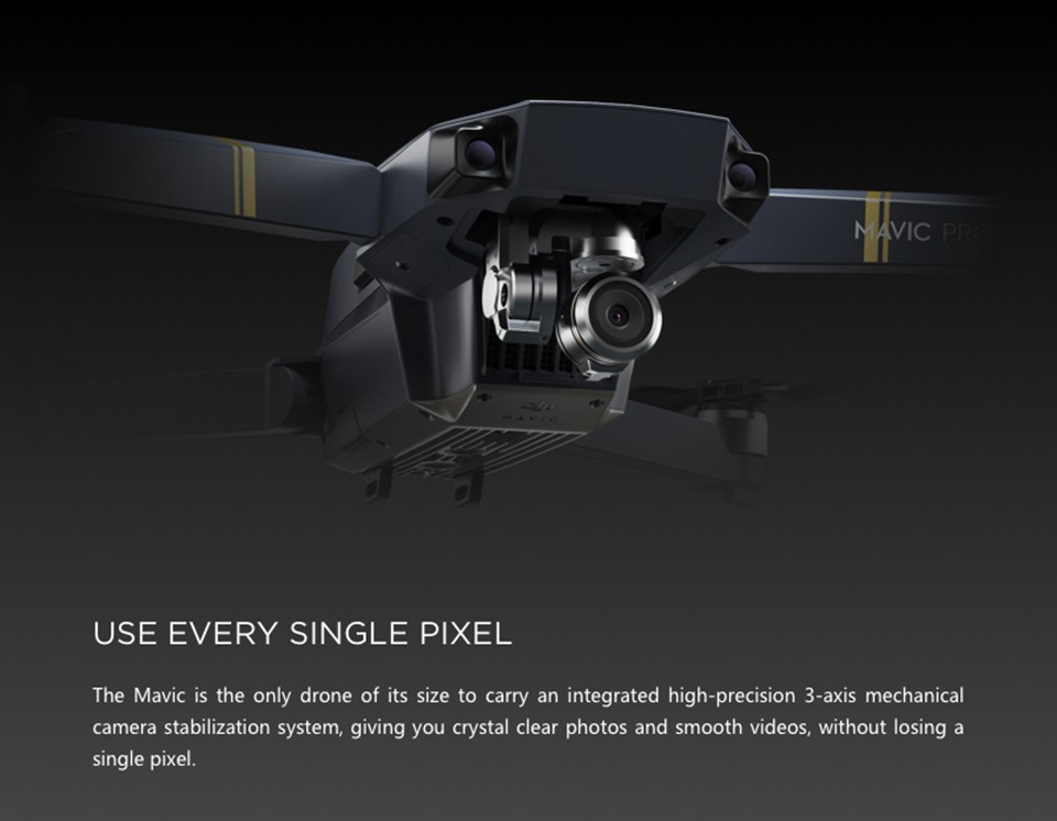Pre-order!DJI Mavic Pro Drone With 4K HD Camera, Built in Ocu Sync Live View GPS and GLONASS System, Active Track Level Headed..