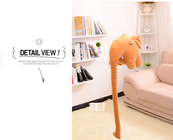 Brinquedos Juguetes Elephant Plush Toys For 3 Years Old Children Wholesale Long Nose Like A Ruler Height Pillow Birthday Gift(China (Mainland))