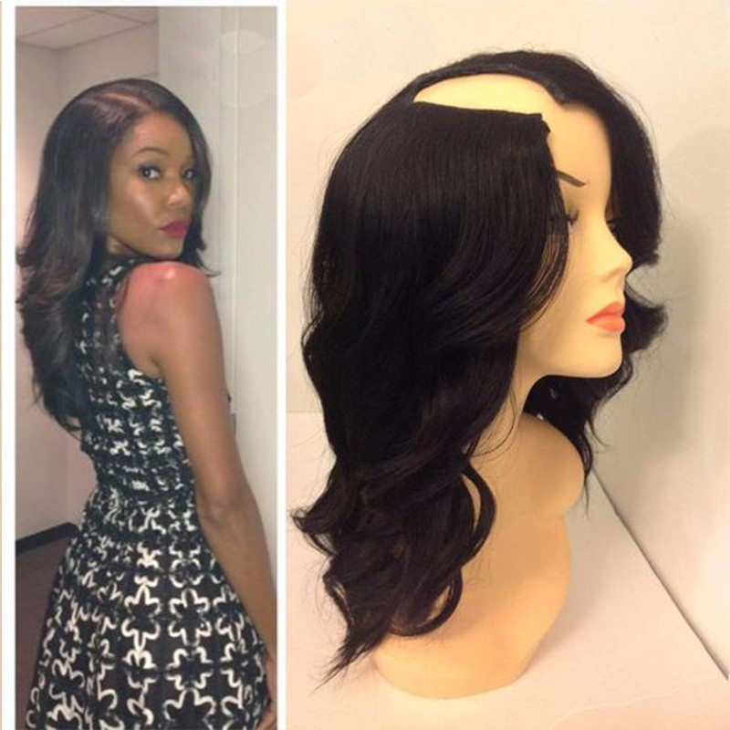 7A High Quality U Part Wig 1*3 Right Opening U Part Wigs Virgin Hair For Black Women 100 Unprocessed Virgin Upart Brazilian Wigs