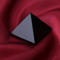 Natural obsidian pyramid Crystal Decoration Lucky transfer jewelry anti villain Healing Home Decor