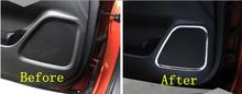 Fashion!4pcs For Mitsubishi Outlander 2013 2014 Interior Door audio speaker decoration cover trims