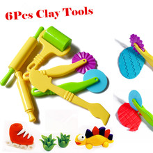 6pc Fimo Polymer Clay Intelligent Plasticine Playdough Modeling Mould Handgum Play Doh Tools Toys Clay Polymer Mold  Kids Toys(China (Mainland))