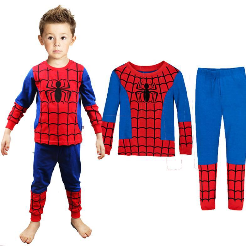 new 2014 spider man children clothing sets,fashion spiderman cosplay costume kids pajama sets,long sleeve toddler baby sleepwear<br><br>Aliexpress