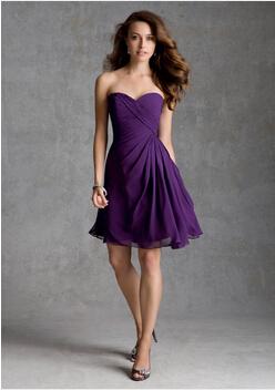 Короткая платье шнуровка Жилетidos де коктейльный шифон фиолетовый красный коктейльный ...