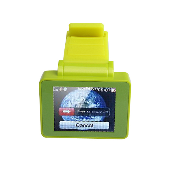 Wearable Electronic Device Green Wrist Watch Cell Phone 1.8''TFT Touch Screen Bluetooth FM BS88(China (Mainland))