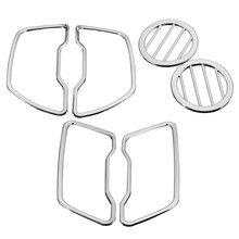 kit Car Styling Sticker Kia Sportage R 2011 2012 2013 2014 2015 outlet decorative ABS Chrome trim auto accessories - Mofaner Store store