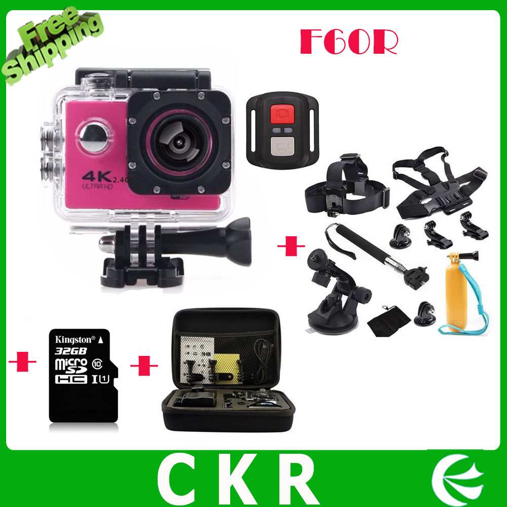 HD 4K WIFI Sport Action Camera F60R 2 4G Remote Control 30fps Waterproof Cam Diving Camcorder