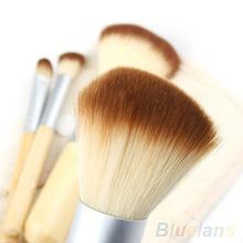 5pcs set Hot Selling New BAMBOO Makeup Brush Set Make Up Brushes Tools 09GE
