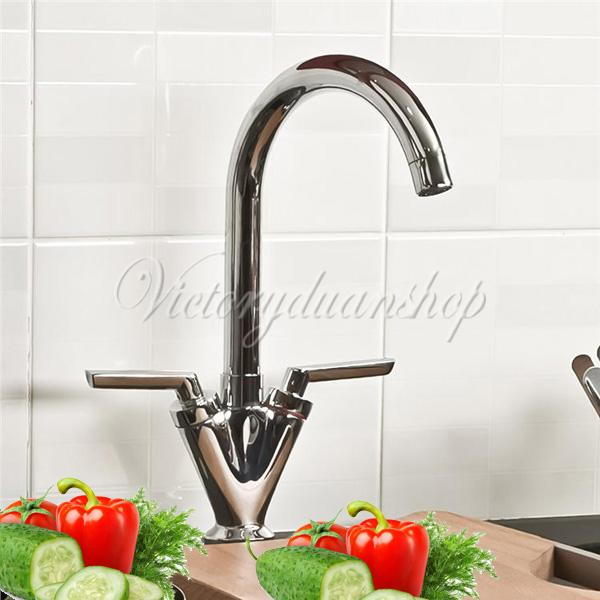 New Modern Chrome Bathroom Kitchen Bathtub Basin Sink Swivel Spout Mixer Tap Faucet Free Shipping(China (Mainland))