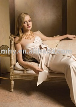 champagne ribbon bridesmaids dresses,formal prom dresses,accept    JLM9834