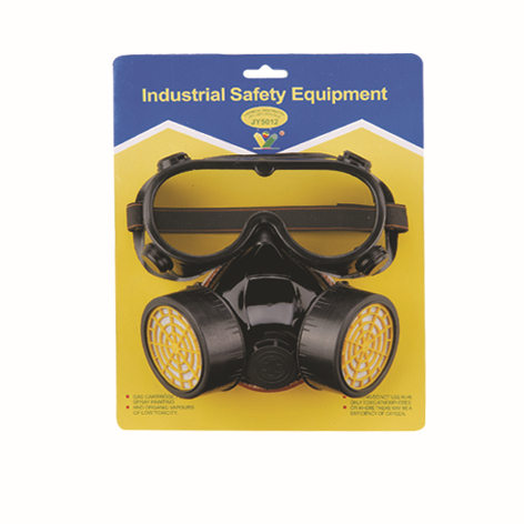 Two-Piece Set Double -tank Gas Mask Protection Filter Chemical Gas Respirator Face Mask(China (Mainland))