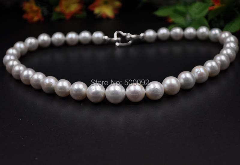 Huge 11-13mm near round freshwater cultured pearl necklace free shipping<br><br>Aliexpress