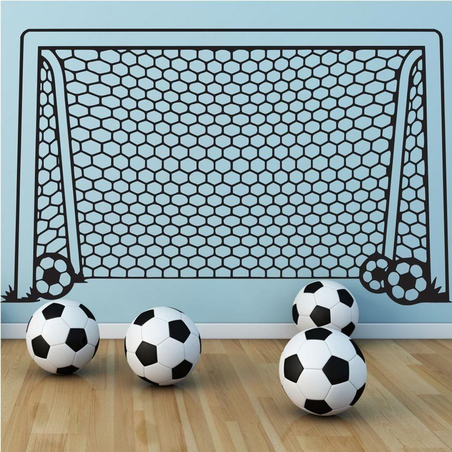 sports wall sticker for kids rooms removable children soccer decal