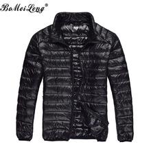 Duck Down Jacket Men 2015 Autumn&Winter Lightweight Mens Stand Collar Thin Jackets Coats Outdoors Sports Casual Warm Outerwear
