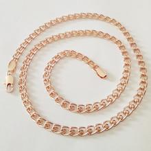 1 Piece Fashion 585 Gold Jewelry  Men Bijouterie  Men Necklace Copper 5MM 60CM Long Gold  Women Men Necklace Factory Direct(China (Mainland))