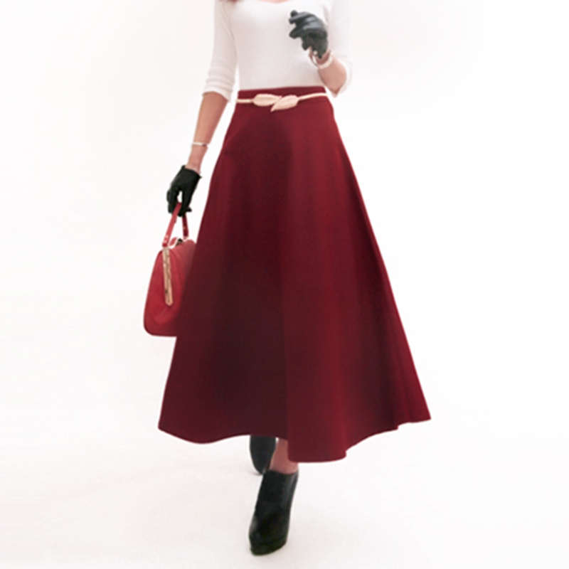 aliexpress buy autumn winter woolen maxi skirt
