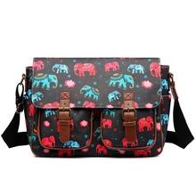 New fashion women shoulder bag colorful messenger bags handbags for women Elephant print school bag 6 colour OILCLOTH material(China (Mainland))
