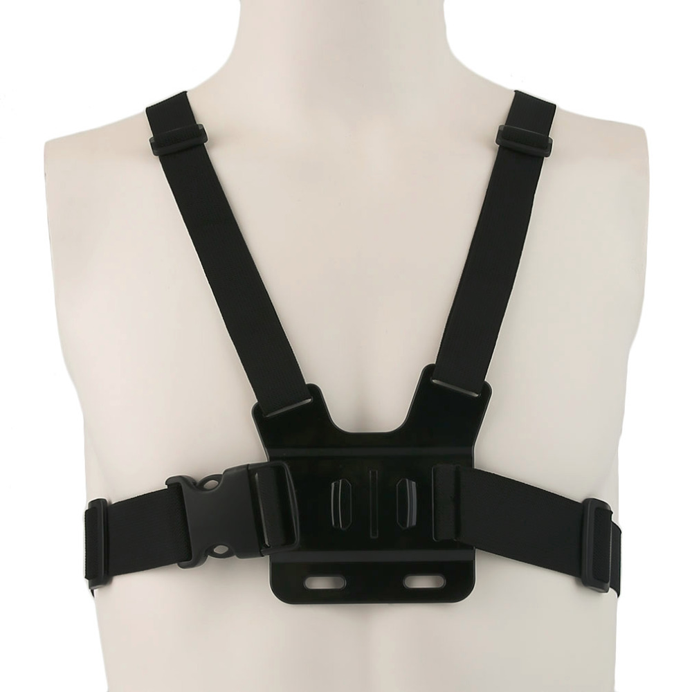 Adjustable Light weight 3 points Elastic Chest Belt Mount Harness For GoPro Hero Camera 3 +3 2 1(China (Mainland))