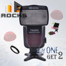 Buy Buy 1 flash get 2 gift ! TRIOPO TR-850EX Flash Speedlite work Nikon Canon Olympus pentax Fujifilm Camera for $53.76 in AliExpress store