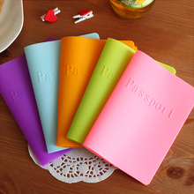 Passport Cover Candy colored Silicone Cover For Passport Dustproof Waterproof Color Passport Holder