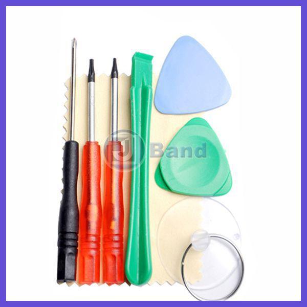 10sets/lot Repair Opening Pry Tool Kit Set T-5,T-6 screwdriver Picks 7 in 1 for APPLE Samsung HTC LG Nokia Blackberry Motorola(China (Mainland))