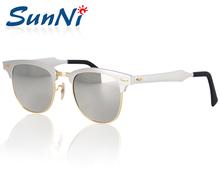 Hotest красочный клуб ретро алюминиевая рама стеклянная объектива óculos De Sol цвет sn3507 51 мм солнцезащитные очки отпуск женщин людей