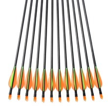 Free Shipping 12pcs pack Spine400 32inch Fiberglass Arrows For Recurve Bow Compound Bow Arrow with Protect