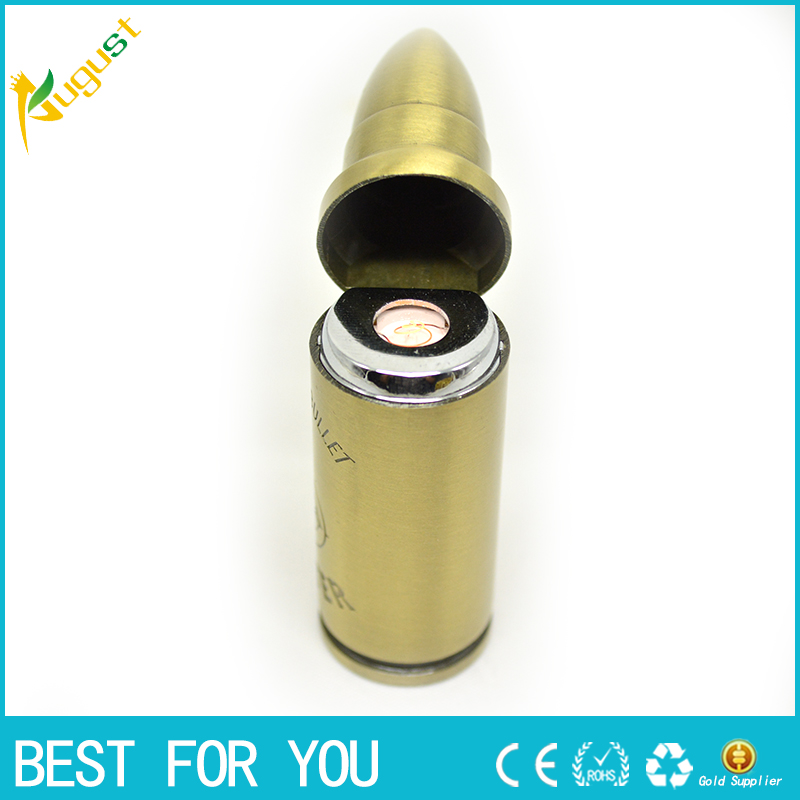 1pc Electronic Cigarette Lighter Rechargeable USB Lighters & Smoking Accessories Flameless Windproof Bullet Gadgets Gift(China (Mainland))