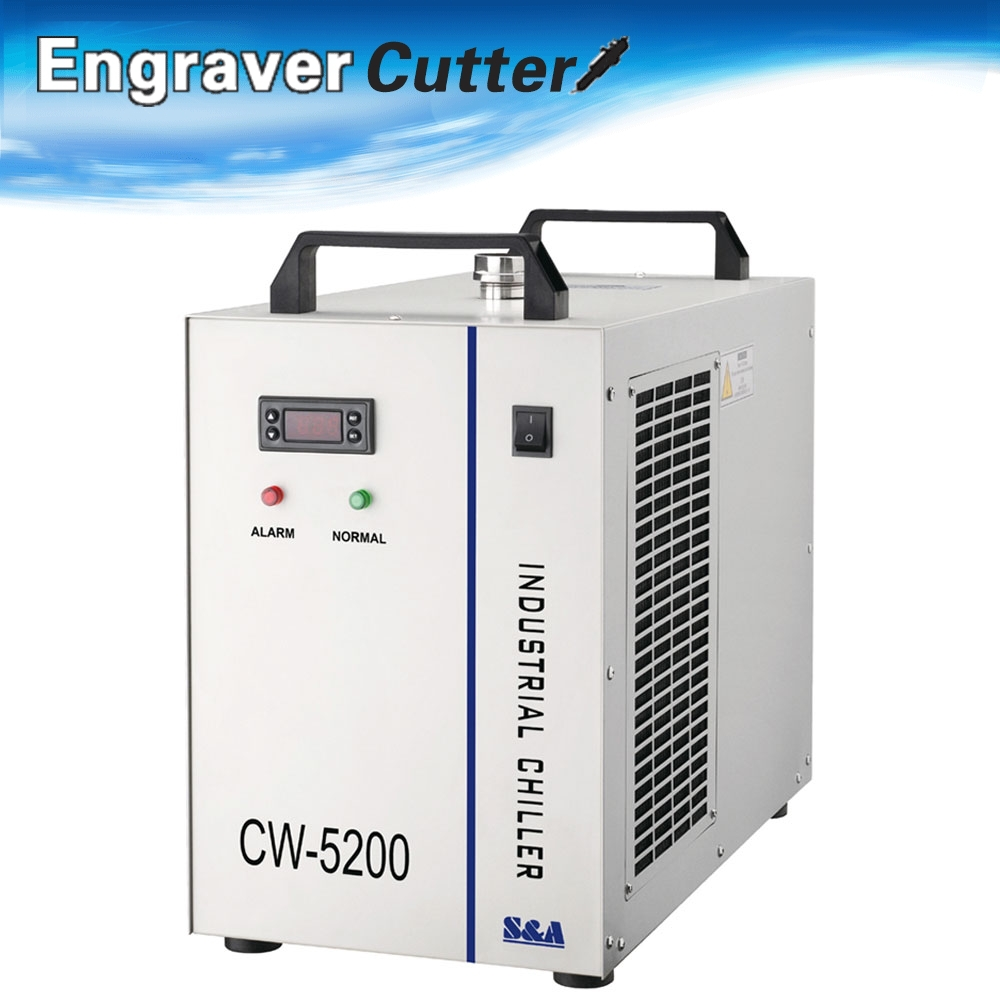 CW-5200AG Industrial Water Chiller for Single 150W CO2 Laser Tube Cooling AC 1P 220V, 50Hz(China (Mainland))