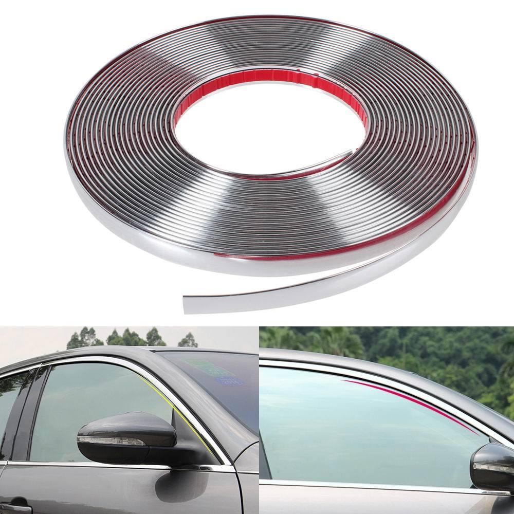13m long Car Styling Door Moulding Trim Automotive Car Sticker Chrome Strip width 6MM 8MM 10MM 12MM 15MM 18MM 20MM 25MM 30MM(China (Mainland))