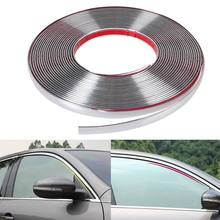 13m long Car Styling Door Moulding Trim Automotive Car Sticker Chrome Strip width 6MM 8MM 10MM 12MM 15MM 18MM 20MM 25MM 30MM(China (Mainland))