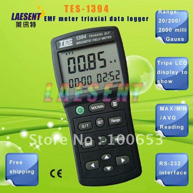 EMF Meter TES-1394S with (USB & 4GB SD Card) updated version of TES-1394  Free Shipping
