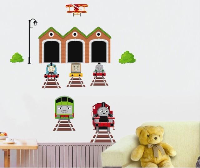 Diy вагон стикер стены AT738 съемный искусство Kid детская спальня детская комната декор детский сад росписи